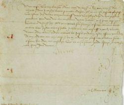 Lettre d'Anne de Bretagne